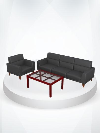ชุดโซฟารับแขกและโต๊ะกลาง
