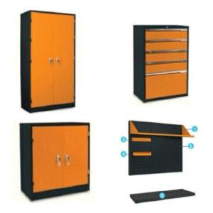 ตู้เก็บเครื่องมือเหล็กและอุปกรณ์เสริม