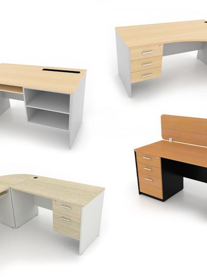 โต๊ะทำงานขาไม้