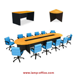 โต๊ะประชุม (WHITE WOODEN)