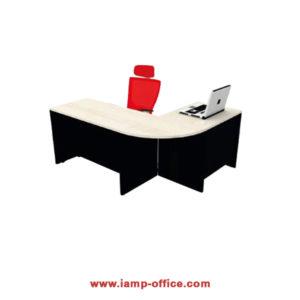 โต๊ะทำงานเข้ามุม (WHITE WOODEN)